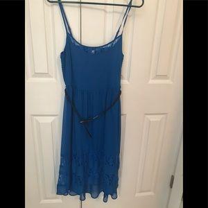 NWT Blue hi-low dress by Mudd